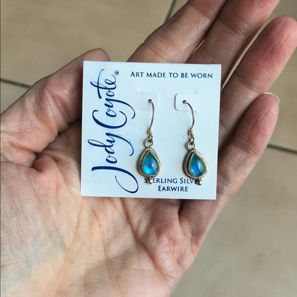 54d84201a Jody Coyote Jewelry | Sterling Blue Stone Drop Earrings | Poshmark
